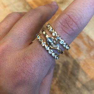 NWT - Diamond Disc Statement Ring